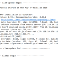 Linuxのアンチウイルス ClamAV のバージョンアップ作業の画像