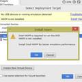 Android StudioでVT-xをEnableに変更したのに、まだ「Enable VT-x in your BIOS security settings」のエラーが出る場合の対処方法の画像