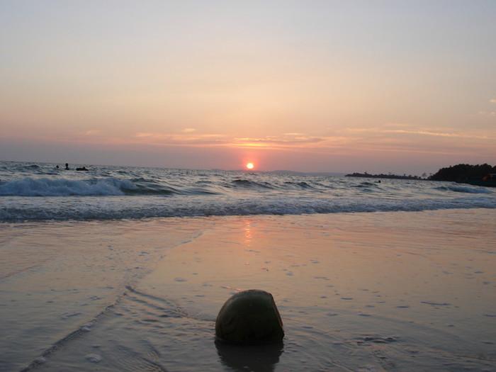 シアヌークビルの夕日