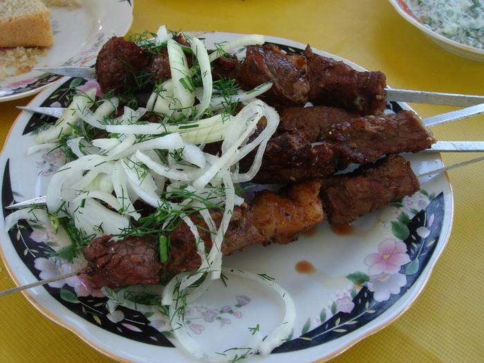 シャシリク(羊の肉の串焼き)