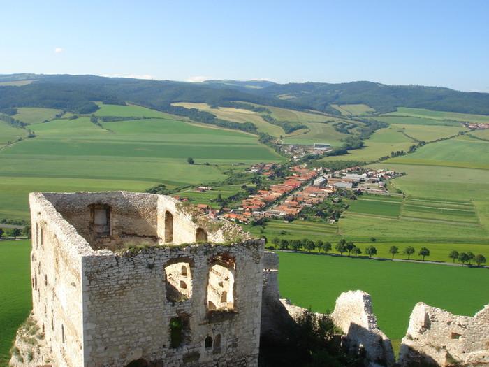 スピシュ城からの眺め