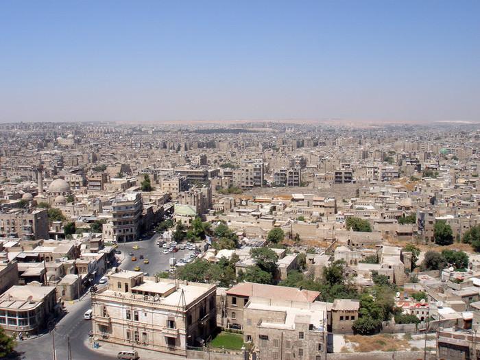 アレッポ城からのアレッポ市街地の眺め
