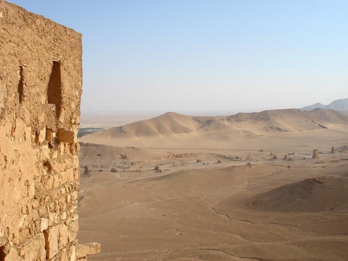 パルミラ遺跡を上から見る