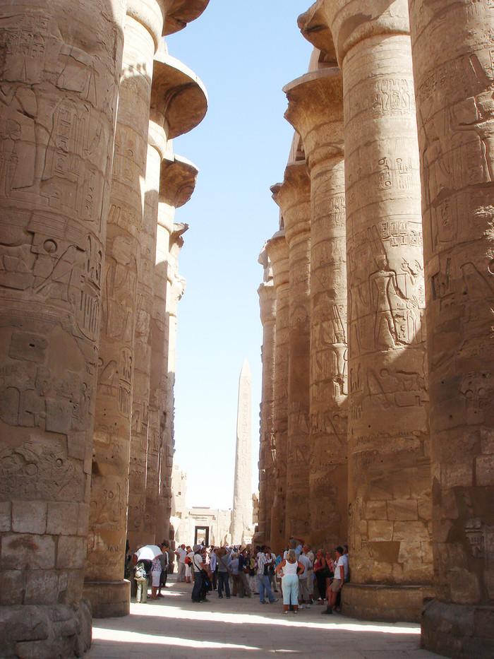 カルナック神殿の円柱