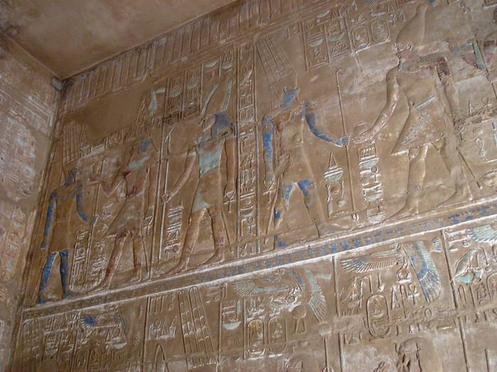 カルナック神殿のヒエログリフ