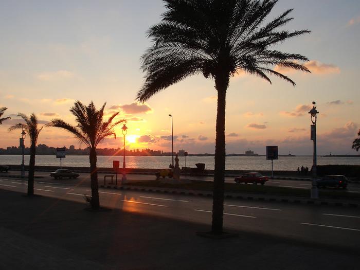 アレクサンドリアの夕日
