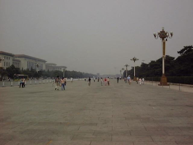 天安門広場まで行く道
