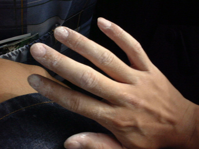 塩湖に触れた手が乾いたら真っ白になった