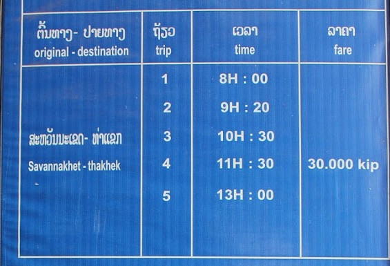 Savannakhet - Thakhek by bus