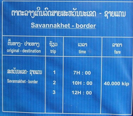Savannakhet - Border by bus