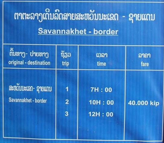 Savannakhet - Border by bus