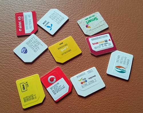 各国のSIMカード